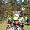 Tablic z oznaczonymi szlakami rowrowymi było wiele. Trudno było się zgubić.
